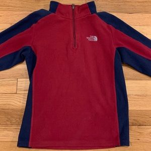 Boys Northface Fleece Pullover, Size Large